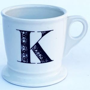 Anthropologie Monogram K Coffee Mug